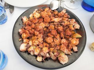 Galician octopus with paprika potatoes