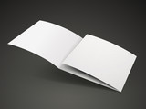 open tri-fold brochure template