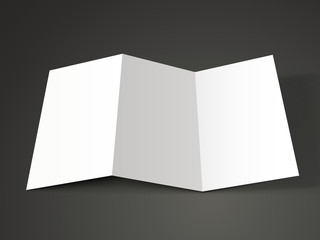 open tri-fold brochure template