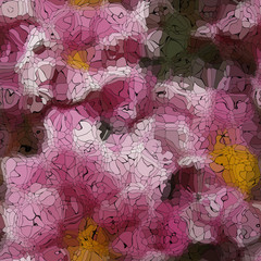 Flower graffiti mosaic generated texture