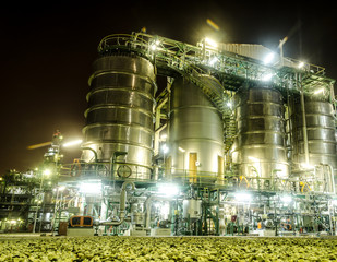 storage tank in petrochemical plant