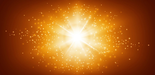 panoramic star light background