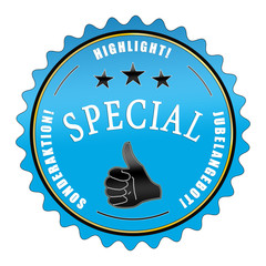 ql98 QualityLabel -  Special Highlight Jubelangebot blau g2353