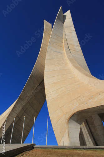 Poster Algerije Mémorial du Martyr à Alger, Algérie