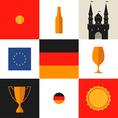 Germany. Icon set