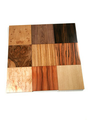 Hard wood tiles