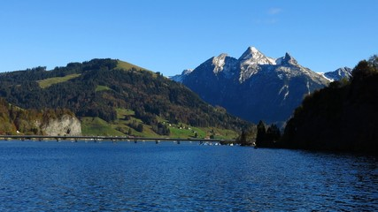 Fluebrig and lake Sihlsee