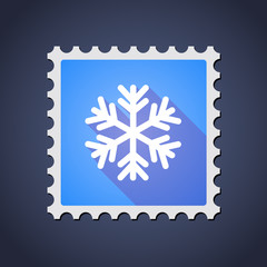 Mail stamp icon with a snow flake