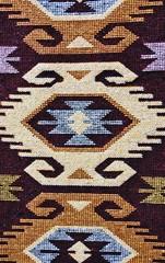 Hand woven carpet pattern