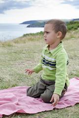 Child on coast walk