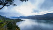 Columbia River Gorge at Hood River OR at Sunset Time Lapse