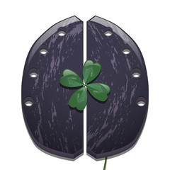 Clover and horseshoe for cows