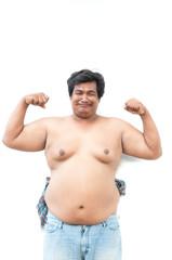 fat man, asian chubby man