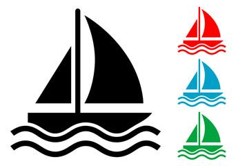 Pictograma velero con varios colores