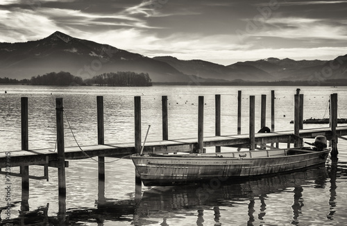 Plakat old wooden jetty