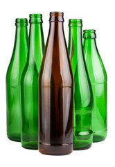 Five empty bottles