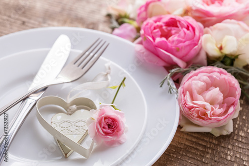 Romantic table setting. - 72328127