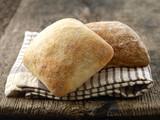 two ciabatta bread buns