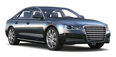 Luxury black sedan
