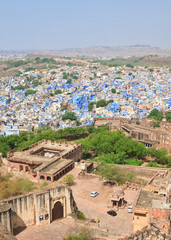 Jodhpur - the blue city. Rajasthan, India