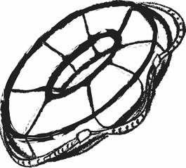 doodle life belt icon illustration