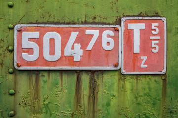Locomotive sign