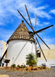 old windmill in Carboneras, Spain