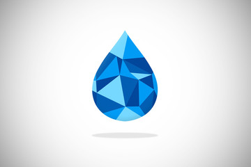 water ice crystal logo vector
