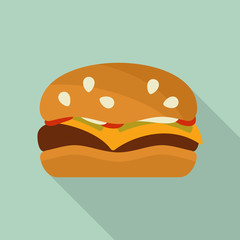 Hamburger vector icon