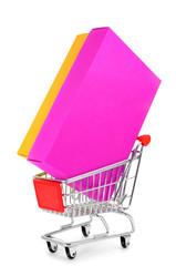 box in a shopping cart