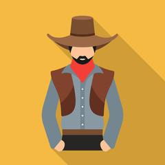 Cowboy vector icon