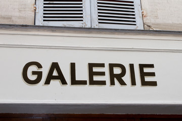 galerie indication