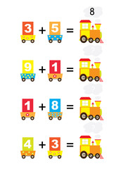 Adding math trains- vectors for children