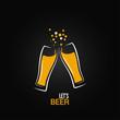 beer glass drink splash design background