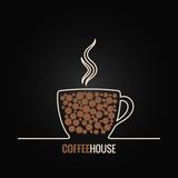 coffee cup menu design background - 72333308