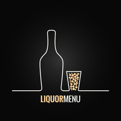 liquor bottle glass shot design background