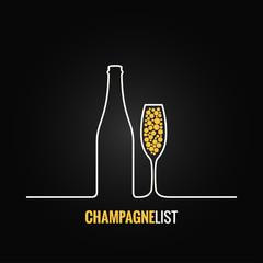 champagne glass bottle menu background