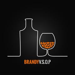 brandy glass bottle menu background