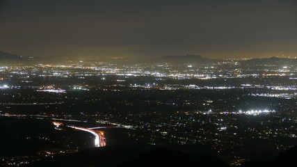 Los Angeles Night Valley View Tele