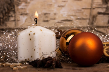 helle kerze - erster advent