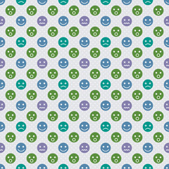 Vector Background # Polka Dot Pattern, Facial Expression