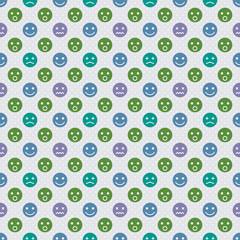 Vector Background # Polka Dot Pattern, Facial Expression