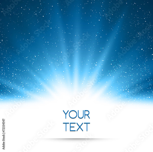Poster Licht, schaduw Abstract magic blue light background