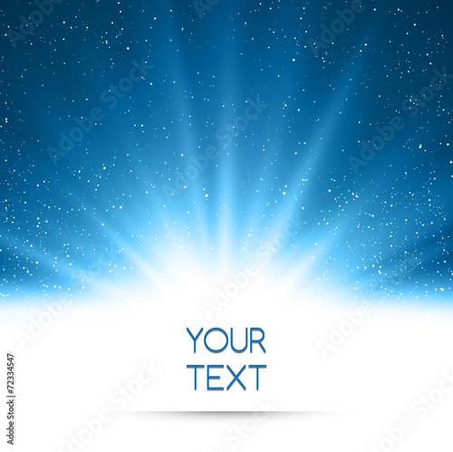 Zdjęcia na płótnie, fototapety, obrazy : Abstract magic blue light background
