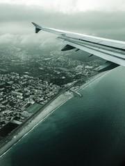 view from aeroplane window