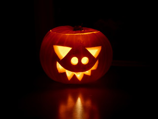 traditional Carved Halloween pumpkin