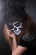 Beautiful Creative Face Paint Day of the Dead Concept and Theme