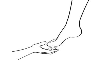 fusspflege pediküre massage