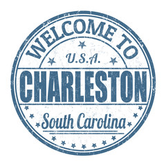 Welcome to Charleston stamp