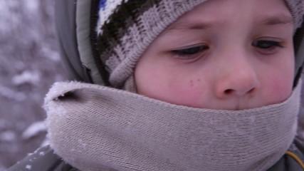 little boy in winter 1